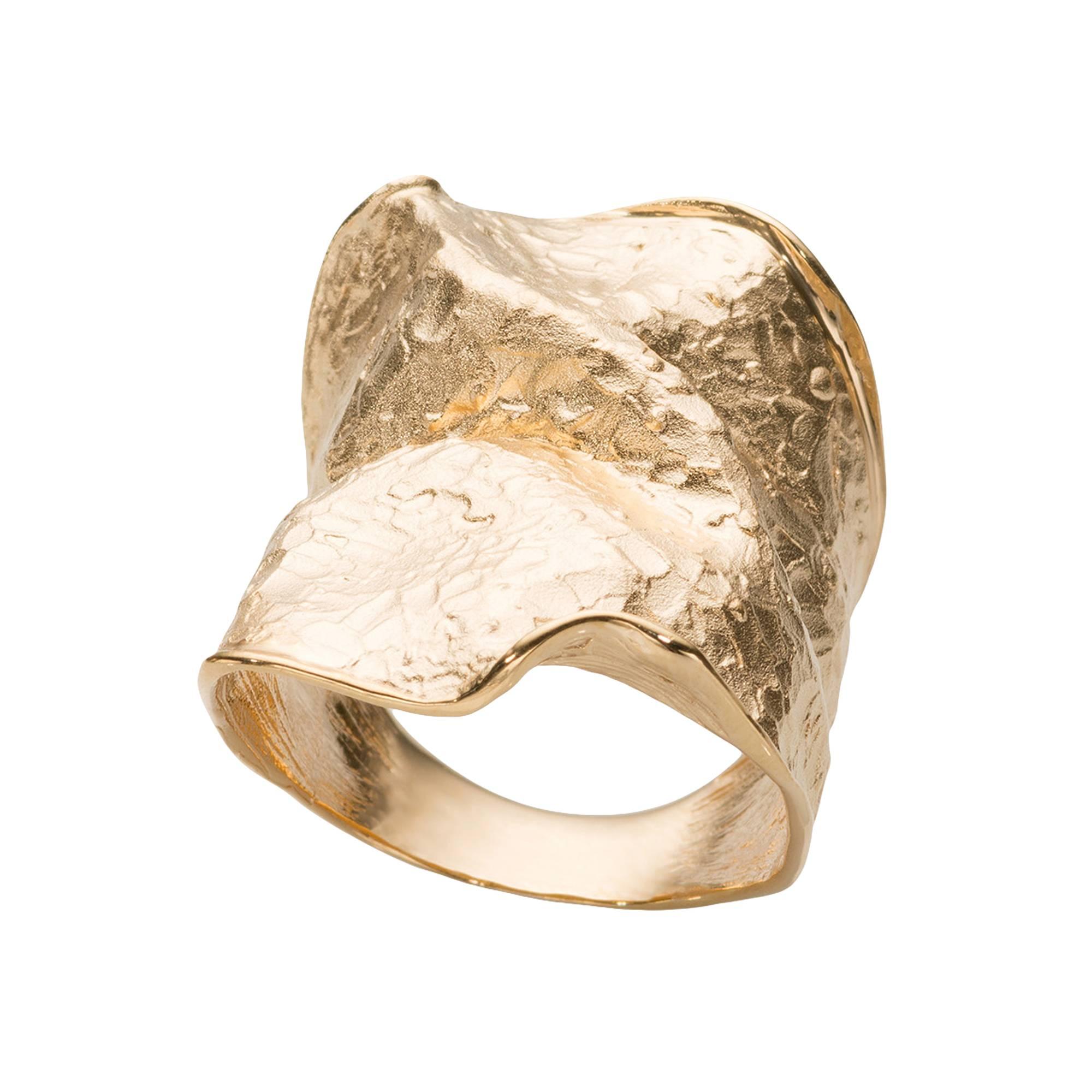 Кольцо Oro morbido из серебра 925 с покрытием желтым золотом, фото