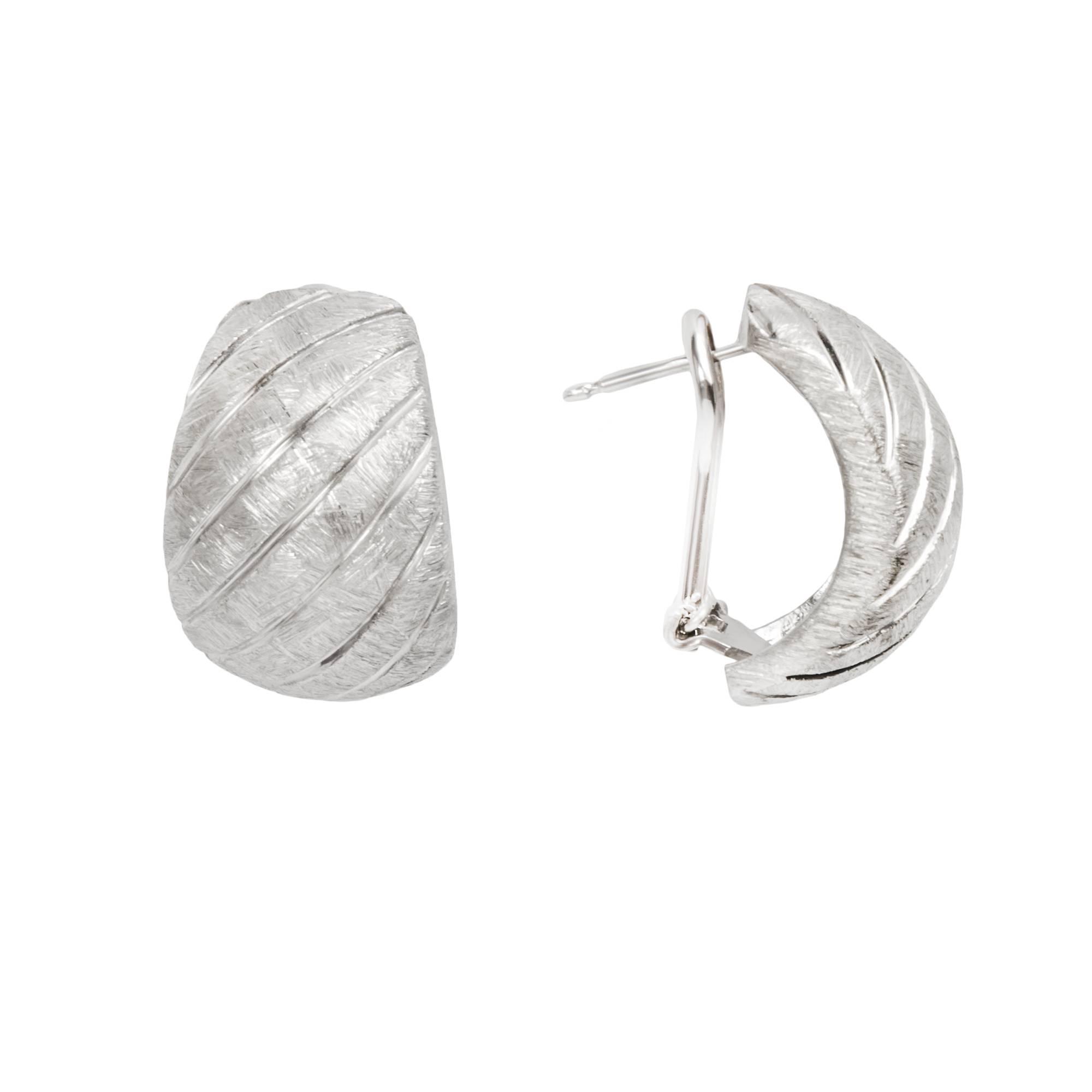 Серьги Stria из серебра 925 с покрытием белым родием, фото