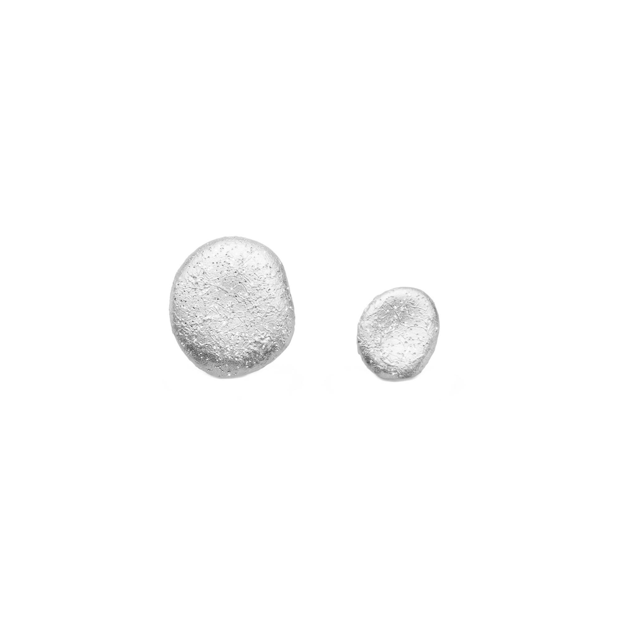 Серьги пусеты Vanessa из серебра 925 с покрытием белым родием